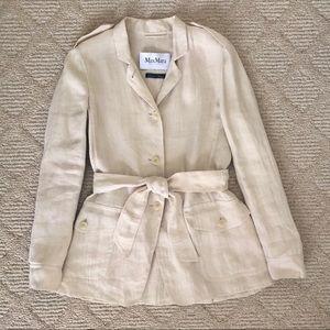 MaxMara Linen Safari Jacket